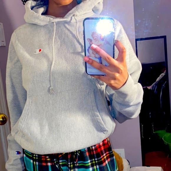 Grey Chanpion hoodie